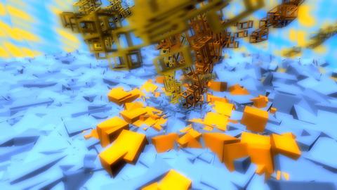 orange helix Stock Video Footage