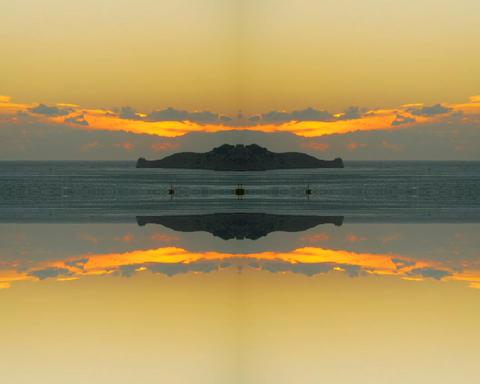 sunset mirror Stock Video Footage