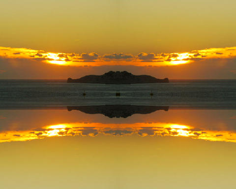 sunset mirror Stock Video Footage