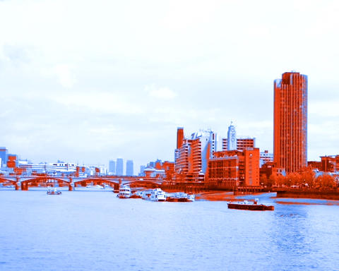 thames orange Stock Video Footage