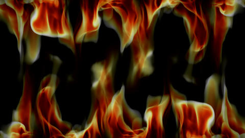 real fire top bottom Stock Video Footage