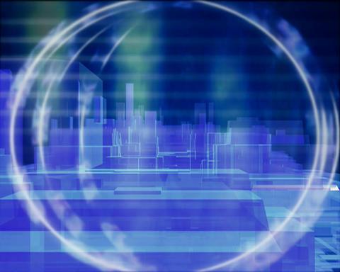 digital city Stock Video Footage