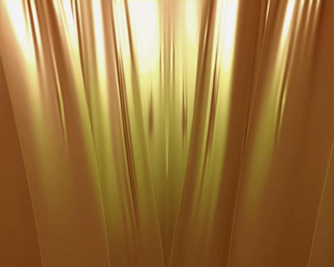 gold curtain Animation