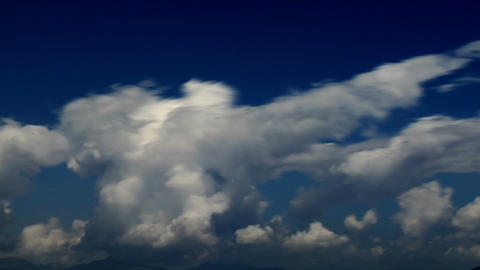 overblur cloudspan Stock Video Footage
