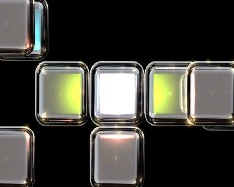 acrylic cubes Stock Video Footage