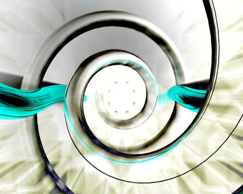 helicoidal tunnel Stock Video Footage