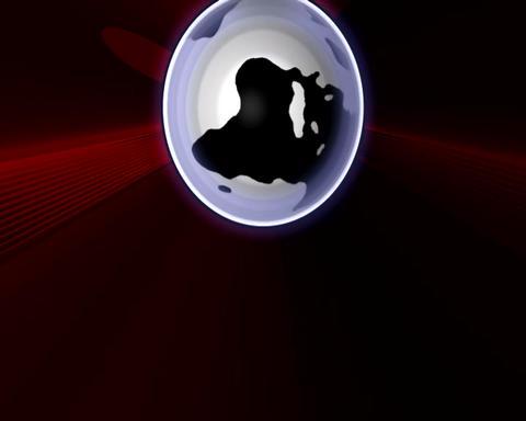 laser globe Animation