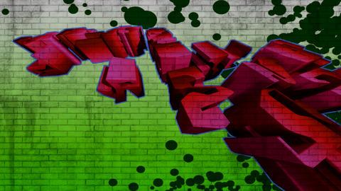 3d graffiti 2 Stock Video Footage