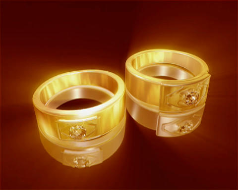 gold rings Stock Video Footage