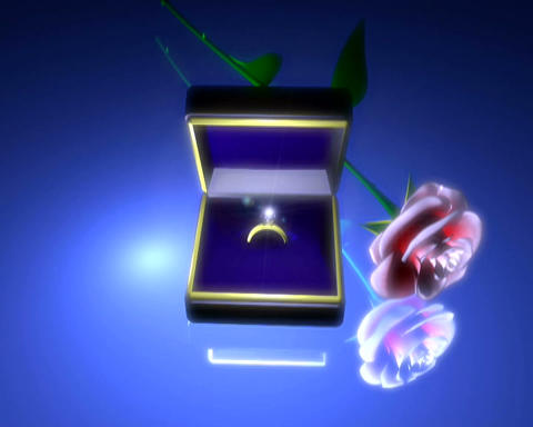 ring and rose Stock Video Footage