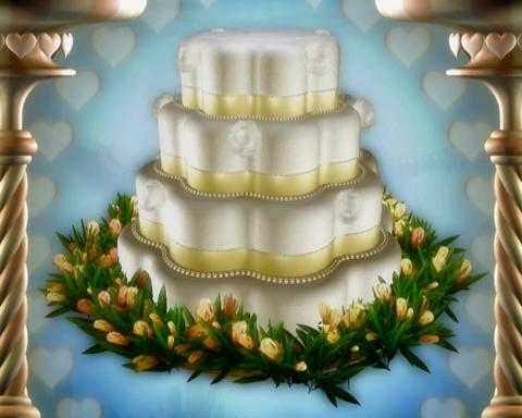 wedding cake 2 Stock Video Footage