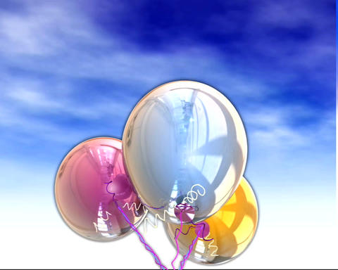 balloons rising under Stock Video Footage
