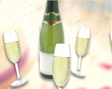 Champaign Toast stock footage