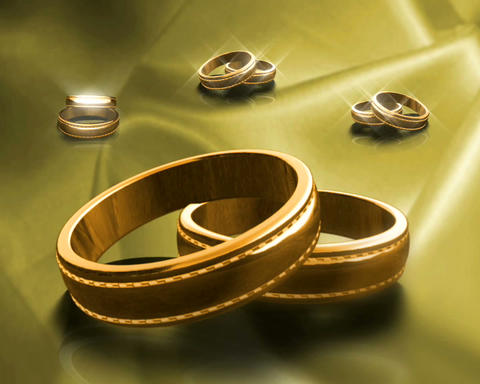 gold bands Stock Video Footage