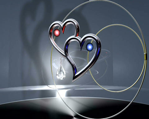 jeweled hearts Stock Video Footage