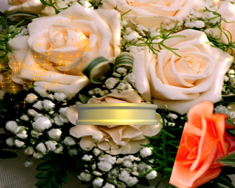 ring and flowers 1 Stock Video Footage