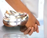 Silver Bands stock footage