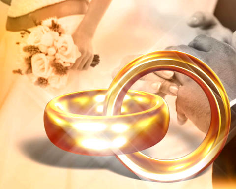 wedding bands Stock Video Footage