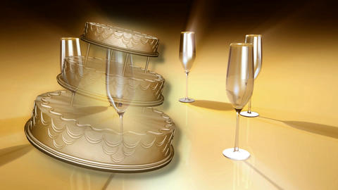 champagne glasses CG動画素材