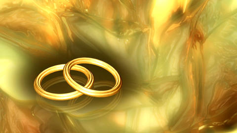 golden rings Stock Video Footage