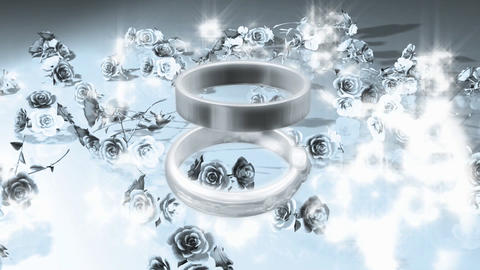 surreal flower rings Stock Video Footage