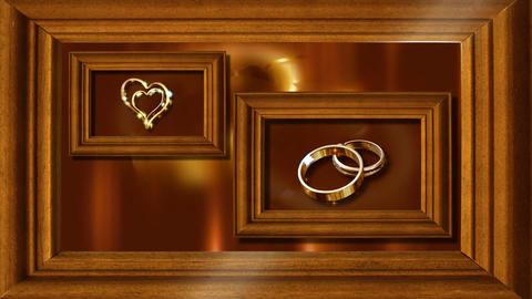 wedding frame Stock Video Footage