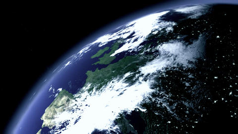 Earth Zoom / 3D Animation: Zoom To Earth At Night Stock Filmmaterial