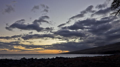 Blacksand Beach, Sunset, Timelapse, Maui, Hawaii,  stock footage