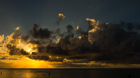 Beach Sunset Timelapse, Mauritius Filmmaterial