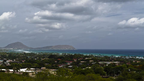 Diamond Head Crater Park, Timelapse, Oahu, Hawaii, stock footage