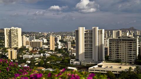 City View, Timelapse, Honolulu, Oahu, Hawaii, USA Footage