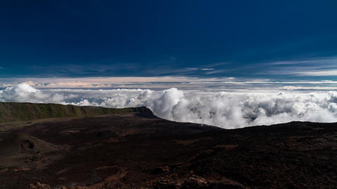 Landscape and Cloud Timelapse at La Reunion, Piton Footage