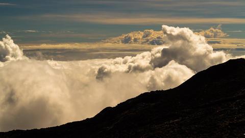 Landscape and Cloud Timelapse at La Reunion, Piton Footage