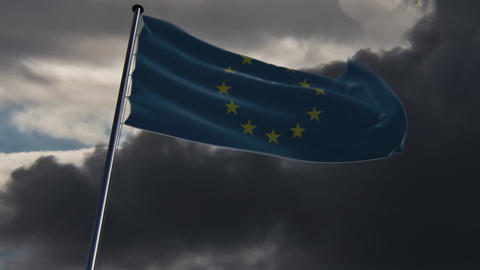 EU Flag, HQ animated on an epic background Animation