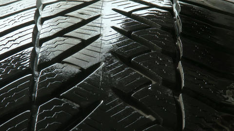 4K Maintaining Tire For Storage 2 stock footage