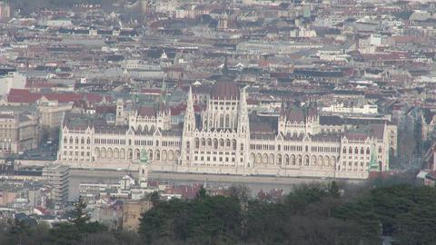 4K Parliament Hungary Aerial 1 stock footage