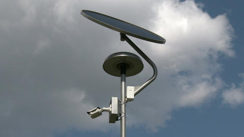 4 K Solar Panel Light and Street View Camera 1 Footage