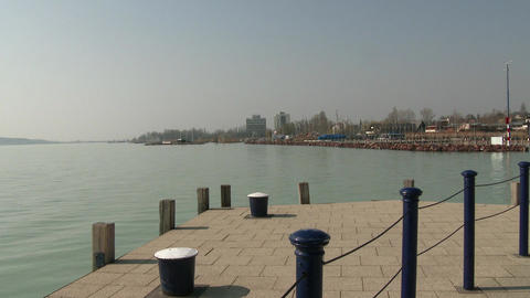 Balatonfured Hungary Pier 4 stock footage