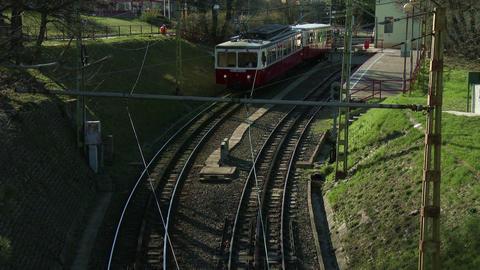 Cogwheel Railway Budapest Hungary 2 stock footage