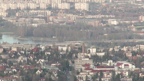 Early Spring Budapest Hungary Aerial 8 Footage
