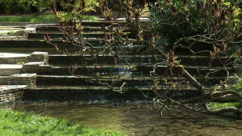 Japanese Garden 1 Small Waterfall stock footage