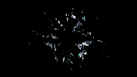Broken Glass Alpha stock footage