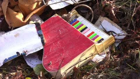 Dumped Kids Piano Toy Footage