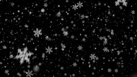 Snowflakes Loop Alpha Animation
