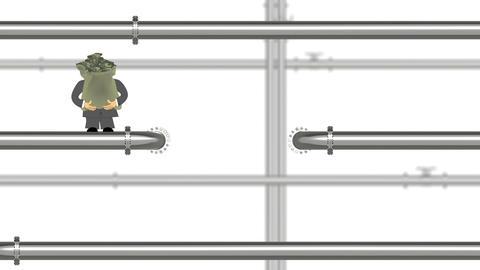 Pipeline Business Cartoon Animation