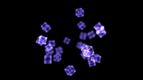 Bright Rotating Cubes - Loop Purple Animation