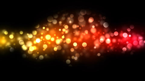 Abstract Particle Background - Loop Orange/Red Animation