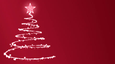 Christmas Tree Creation CG動画素材