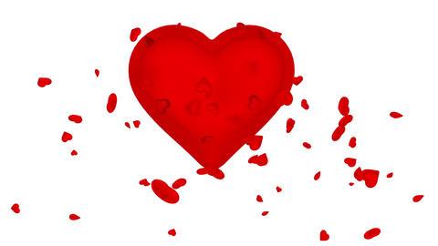 Heart spreads love - version 1 Animation