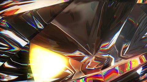 close-up slowly rotating diamond Animation